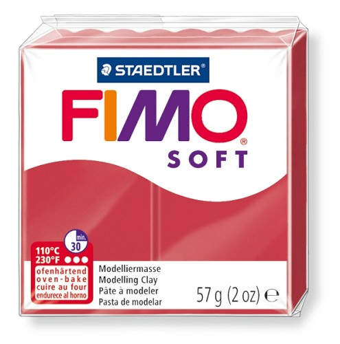 Fimo klei soft kers rood nr. 26.
