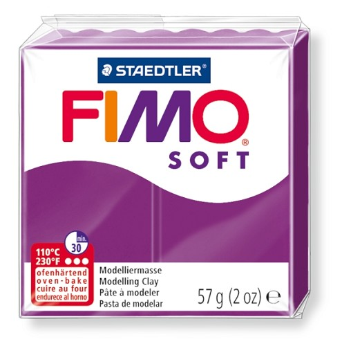 Fimo klei soft paars violet nr. 61.