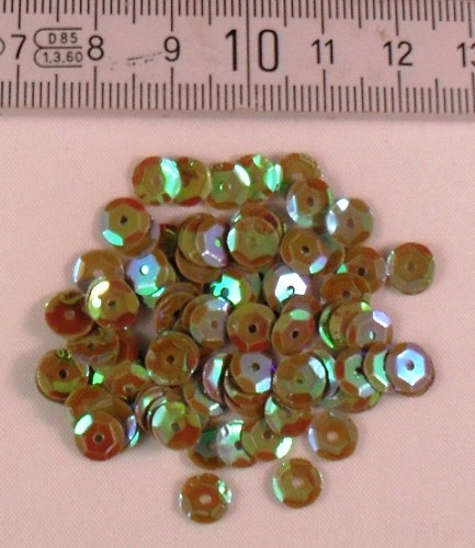 Pailletten 6 mm groen AB.