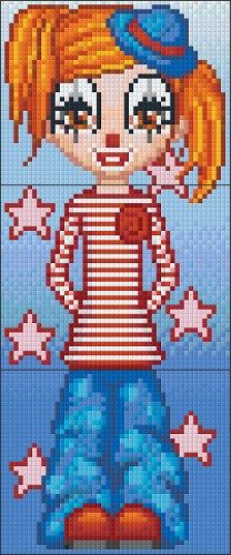 Pixelhobby Clown Marilyn 3 Basisplaten