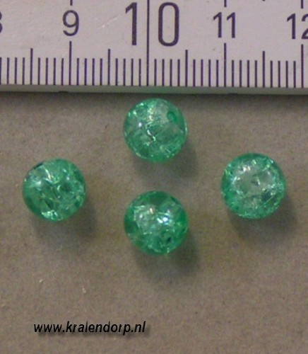 Crackle 8mm groen. 100 st.