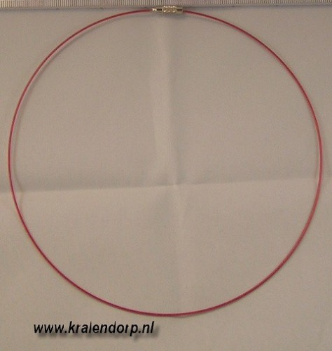 Spang 45cm licht rood.