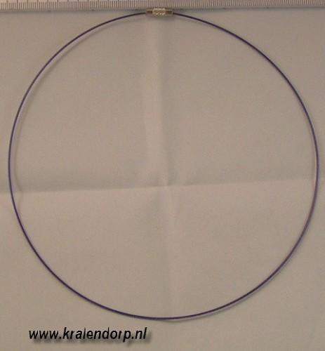 Spang 45cm paars blauw.
