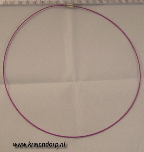 Spang 45cm roze paars.