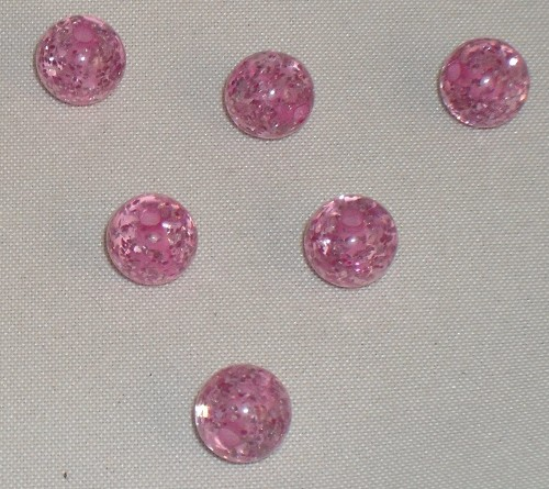 Polaris glitter kraal 6mm rose.