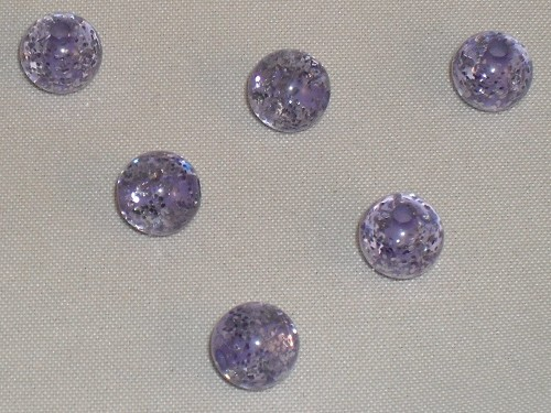 Polaris glitter kraal 6mm tanzanite.