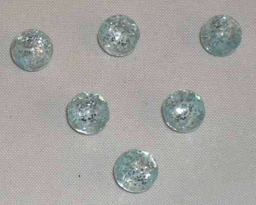 Polaris glitter kraal 8mm aquamarine.