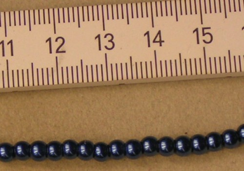 Parel 4mm donkerblauw.