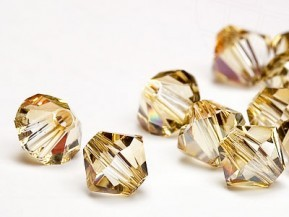 Bicone 4 mm Crystal Golden Shadow .(001gsha)