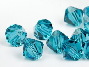 Swarovski Bicone 8 mm Blue zircon.(229)