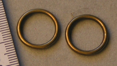 Bronzen ring type 1.