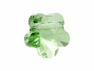 Swarovski flower bead peridot. 8 mm.