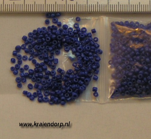 Rocailles 2mm donkerblauw. 450 gram.