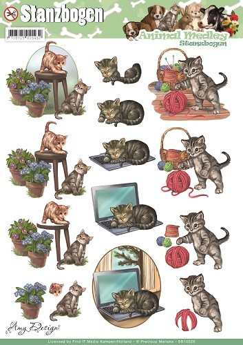 Uitdrukvel Amy Design - Animal Medley - Cats.