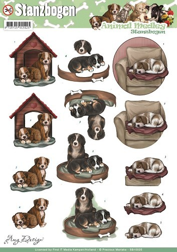Uitdrukvel Amy Design - Animal Medley - Dogs.