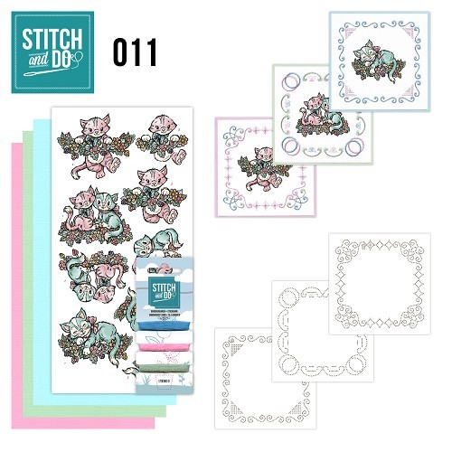 Borduursetjes Stitch and Do 11 - Katjes.