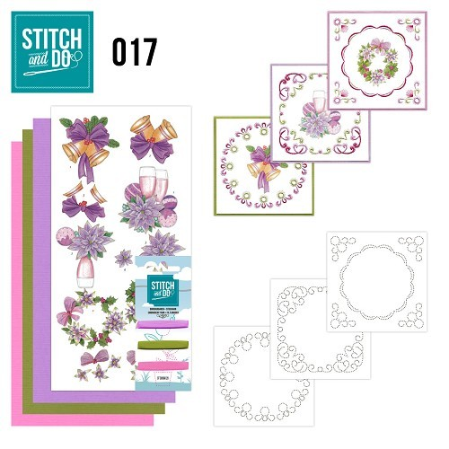 Borduursetjes Stitch and Do 17 - Christmas.