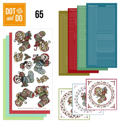 Hobbydots set Dot and Do 65 - Kerstkousen.