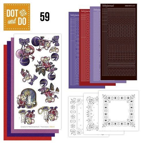 Hobbydots set Dot and Do 59 - Kerstmuizen.