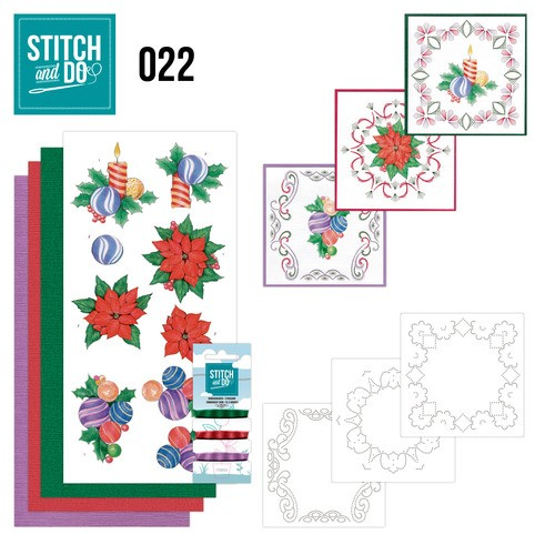 Borduursetje Stitch and Do 22 - Christmas.