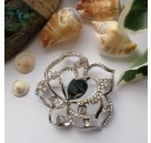 ***Broche Abalone schelp Roos L.