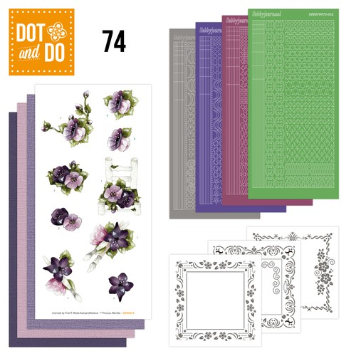 Dot and Do 74 - Purple Flowers.