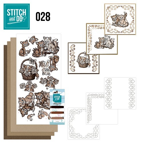 Stitch and Do 28 - Brown Cats