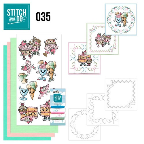 Borduur setje Stitch and Do 35 - Cupcakes.