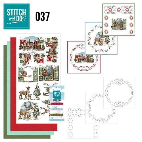 Borduursetje Stitch and Do 37 - Kerstversieringen.