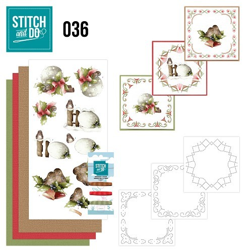 Borduursetje Stitch and Do 36 - Kerstversieringen.