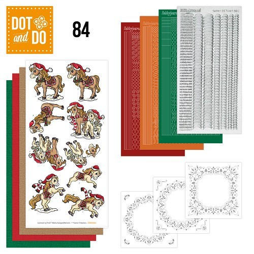 Dot and Do 84 - Yvonne Creations - Kerstpaarden.