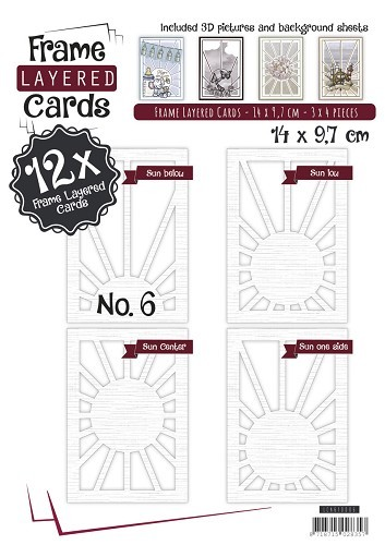 Boek Layered Frame Cards 6 - A6.