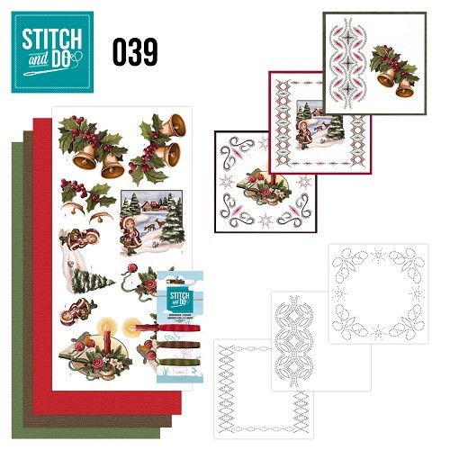 Borduursetje Stitch and Do 39 - Christmas Greetings.