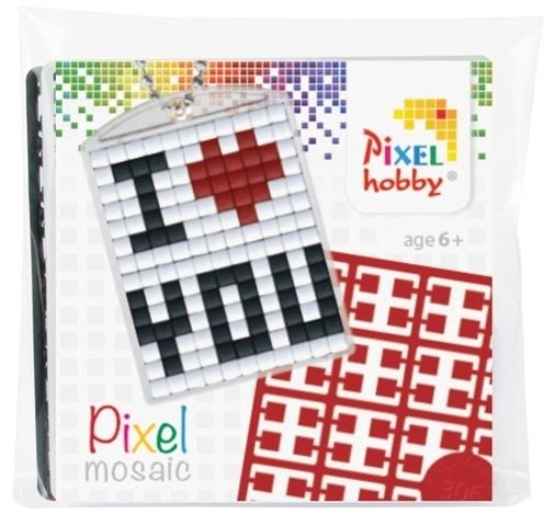 Pixelhobby starters setje medaillon I love you.