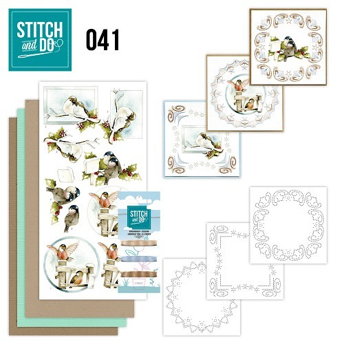 Borduursetje Stitch and Do 41 - Kerstvogeltjes.