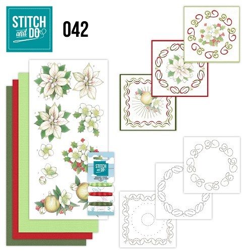 Stitch and Do 42 - White Christmas Flowers.