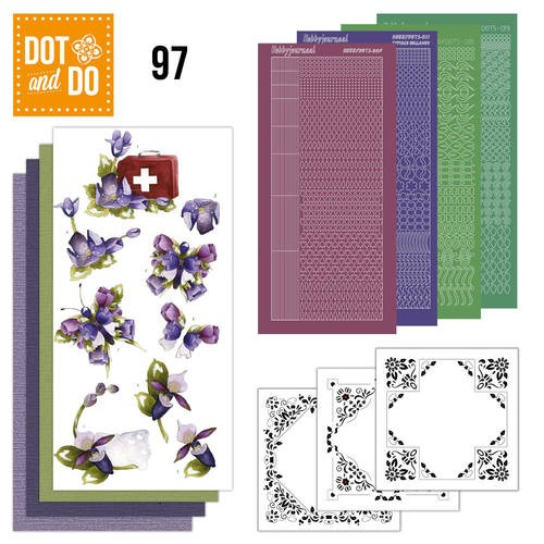 Dot and Do 97 - Purple Flowers.