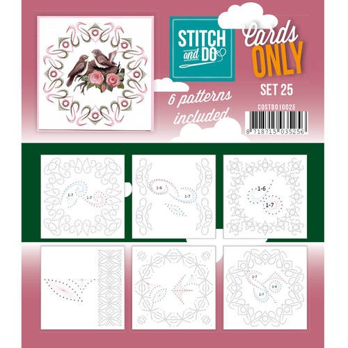 Stitch & Do - Cards only - Set 25.