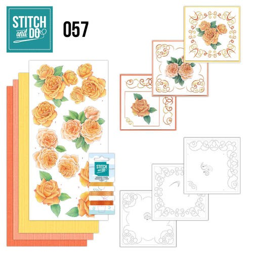 Stitch and Do 57 - Oranje rozen.