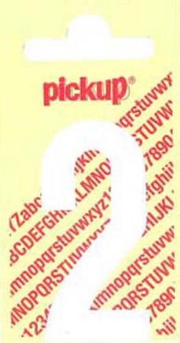 Pick-up sticker wit 150 mm cijfer 2.