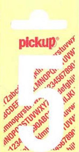 Pick-up sticker wit 150 mm cijfer 5.
