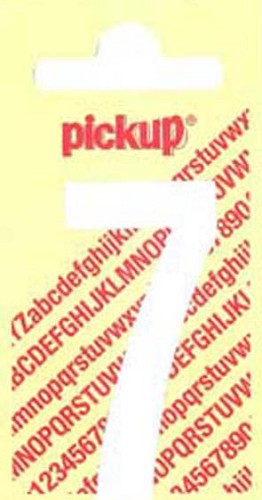 Pick-up sticker wit 150 mm cijfer 7.