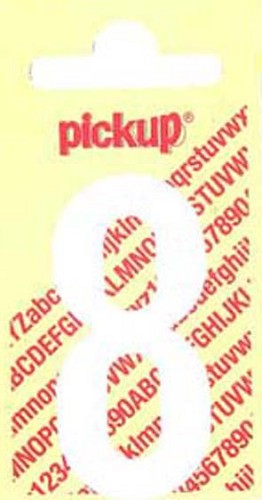 Pick-up sticker wit 150 mm cijfer 8.
