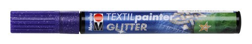 Textielstift plus punt 3mm glitter violet.