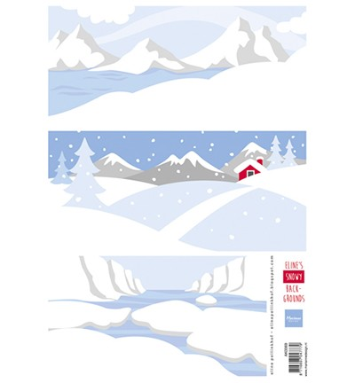 Marianne Design Eline`s Snowy backgrounds