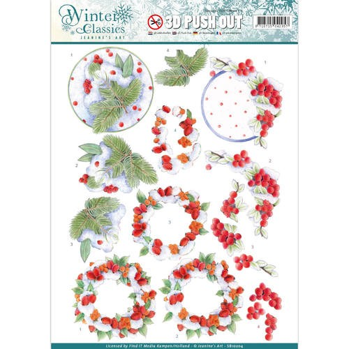 Jeanine`s Art - Winter Classics - Winterberries - 3D Push Out.