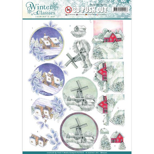 Jeanine`s Art - Winter Classics - Christmas landscapes - 3D Push Out.