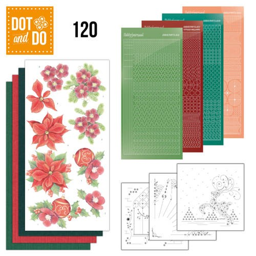 Dot and Do 120 - Jeanine`s Art - Kerstbloemen.