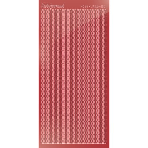 Hobbylines sticker - Mirror Christmas Red.