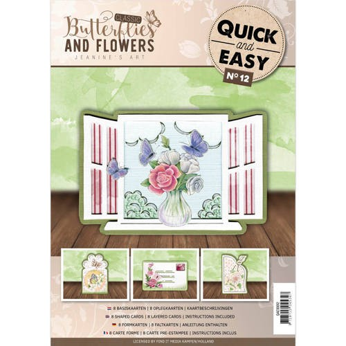 Quick and Easy 12 - Jeanine`s Art - Classic Butterflies and Flowers.